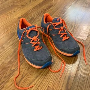 Nike Sneakers Gray Orange and Blue